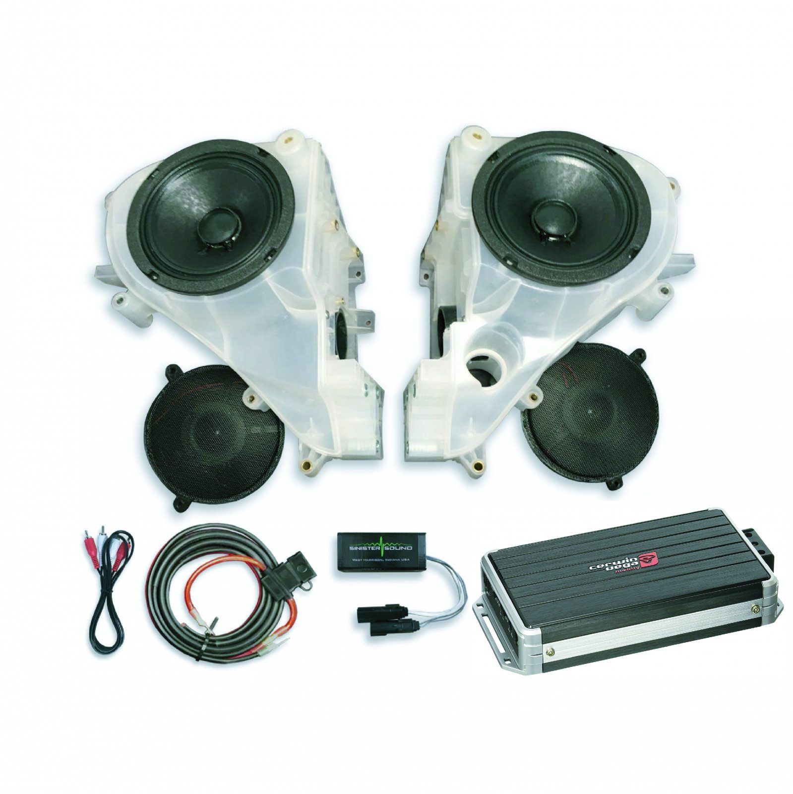 14-18 Street Glide SinisterSound Fairing System w/CERWIN VEGA B52 and Line Level