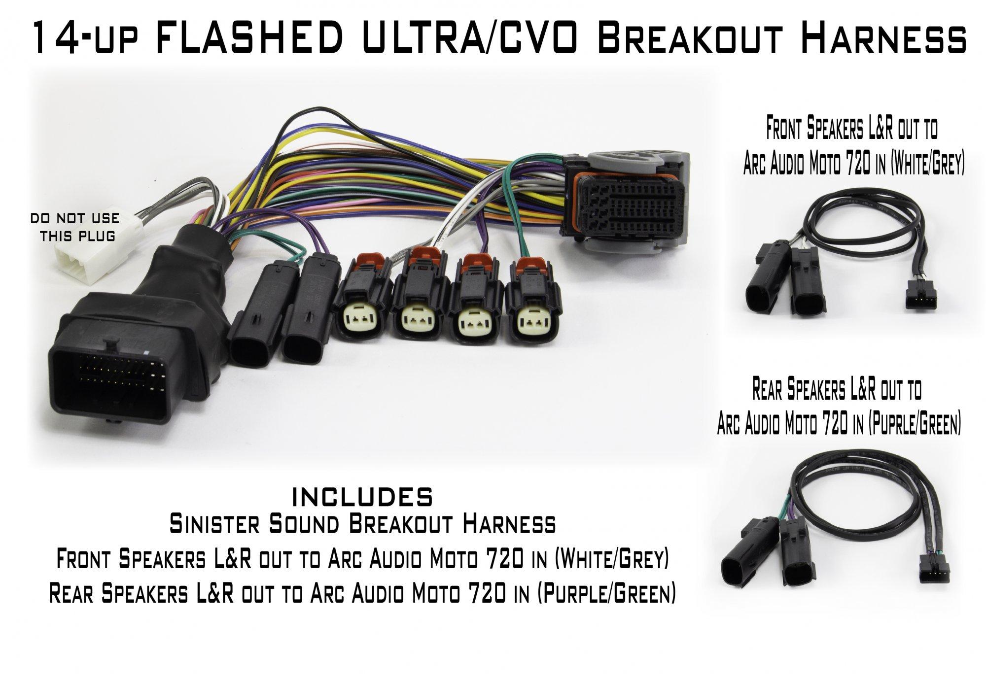 Sinister Sound Ultra/CVO breakout harness
