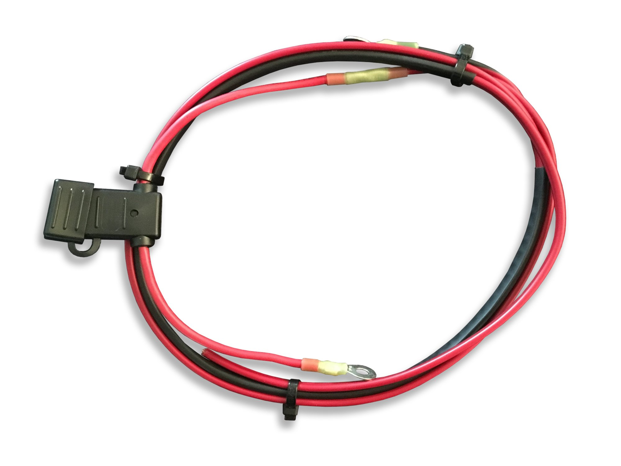 Power and ground for amplifier upgrade on Harley Davidson motorcycles.