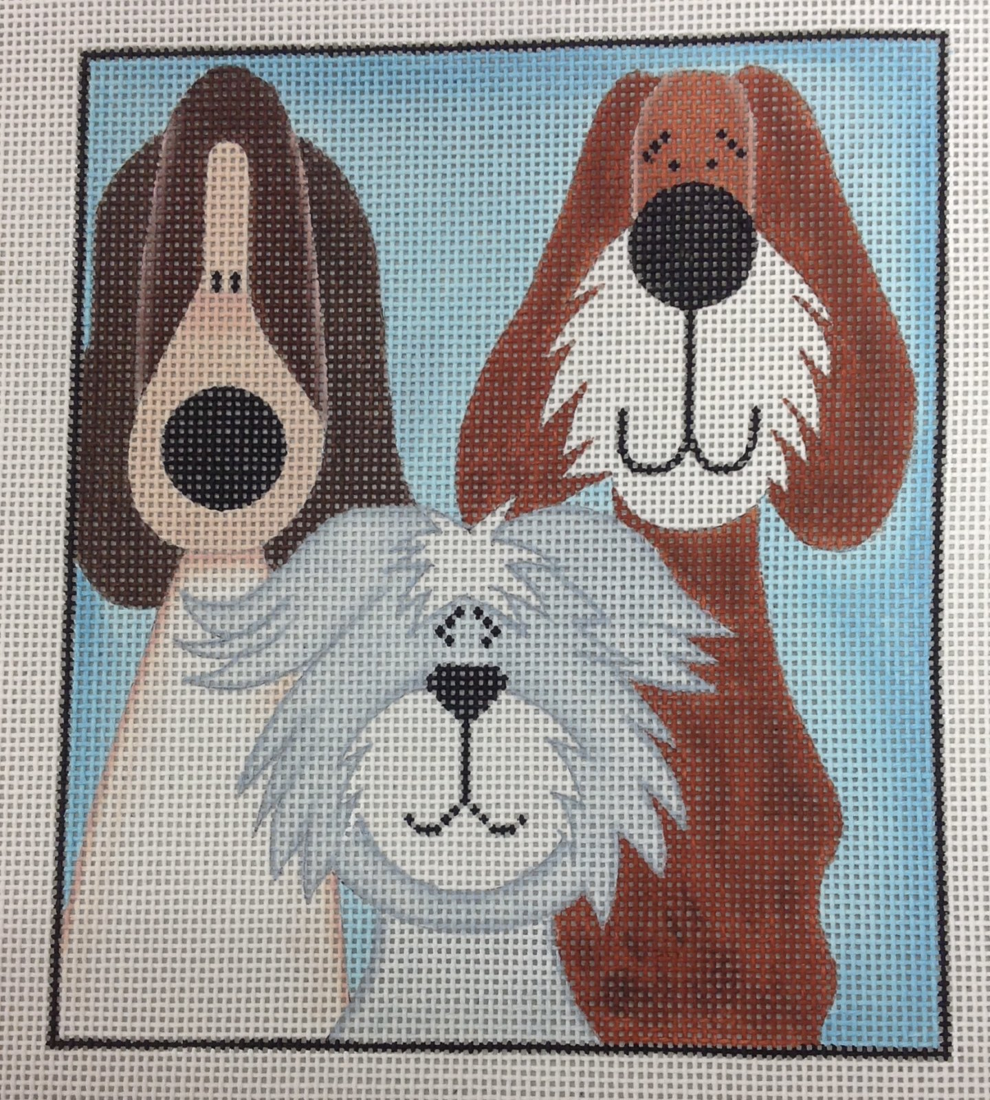 3 tall whimsical pups*