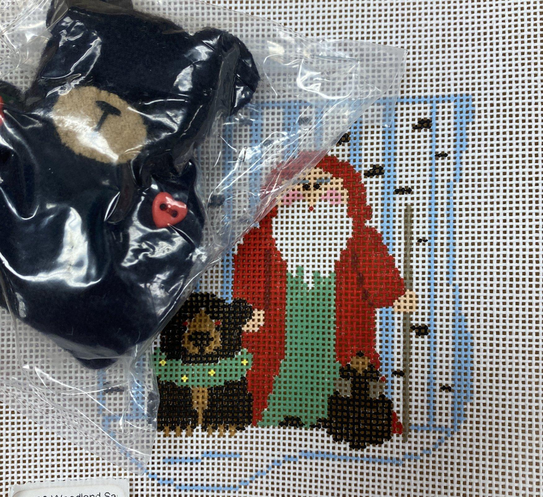 woodland santa w black bear