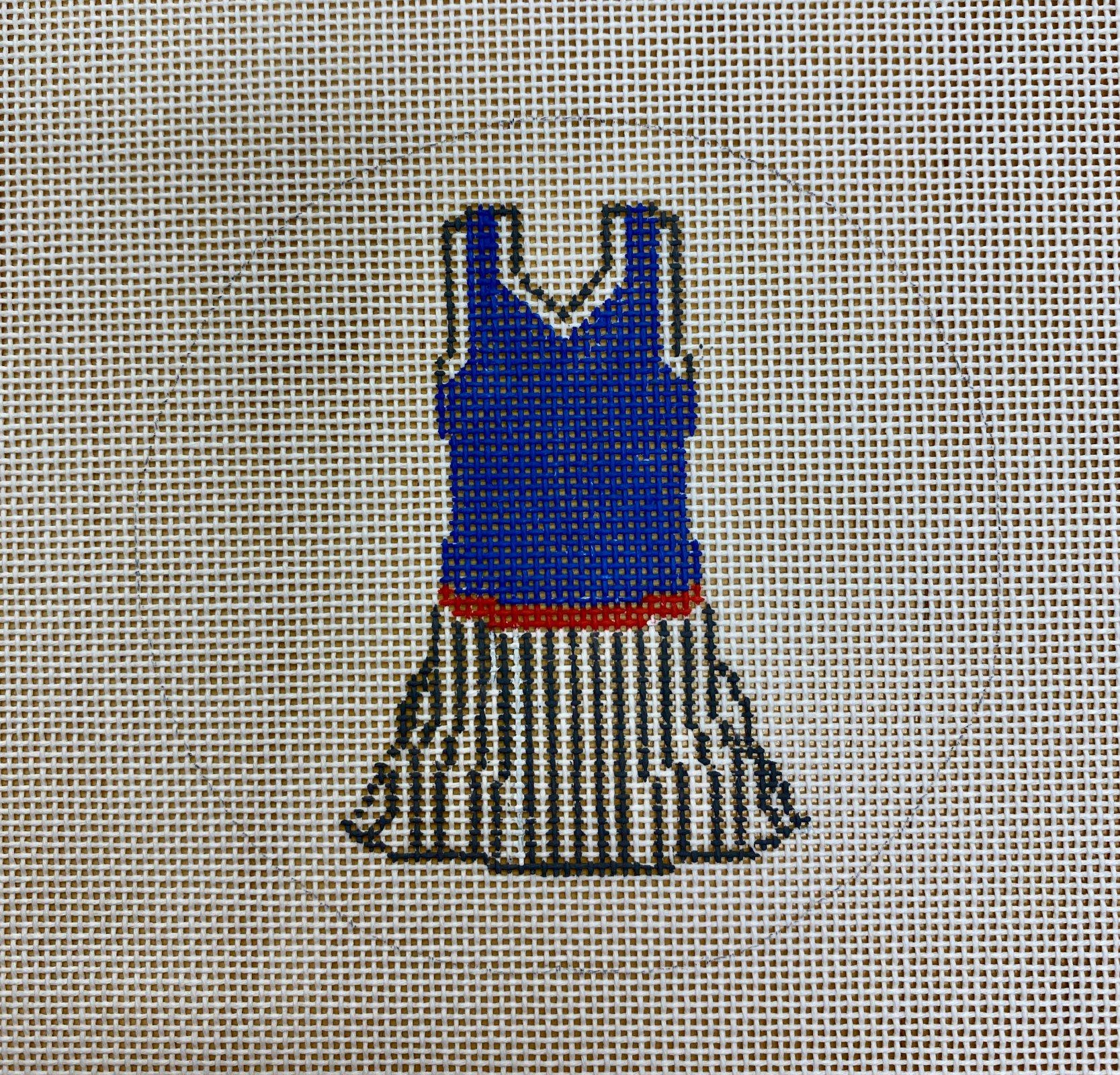 blue tennis dress