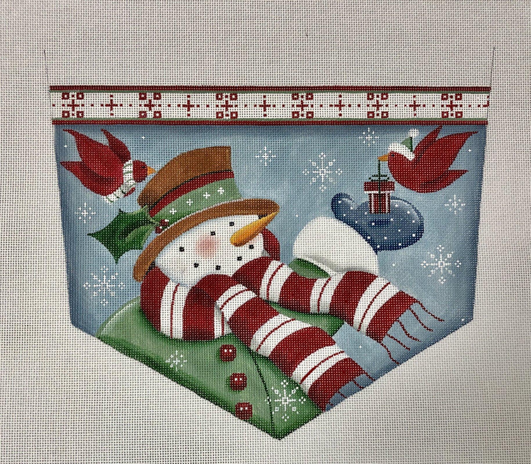 cardnial snowman cuff