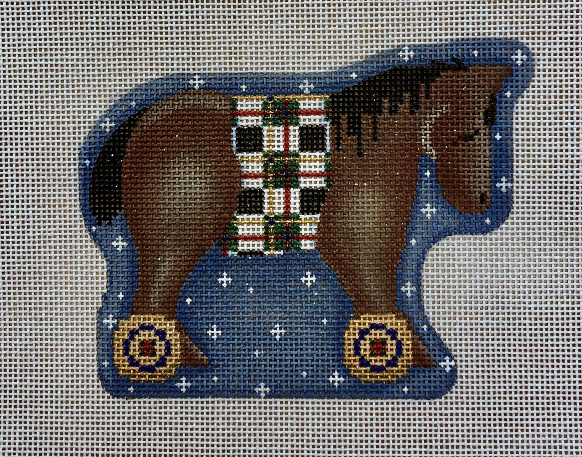 bay horse wheels ornament