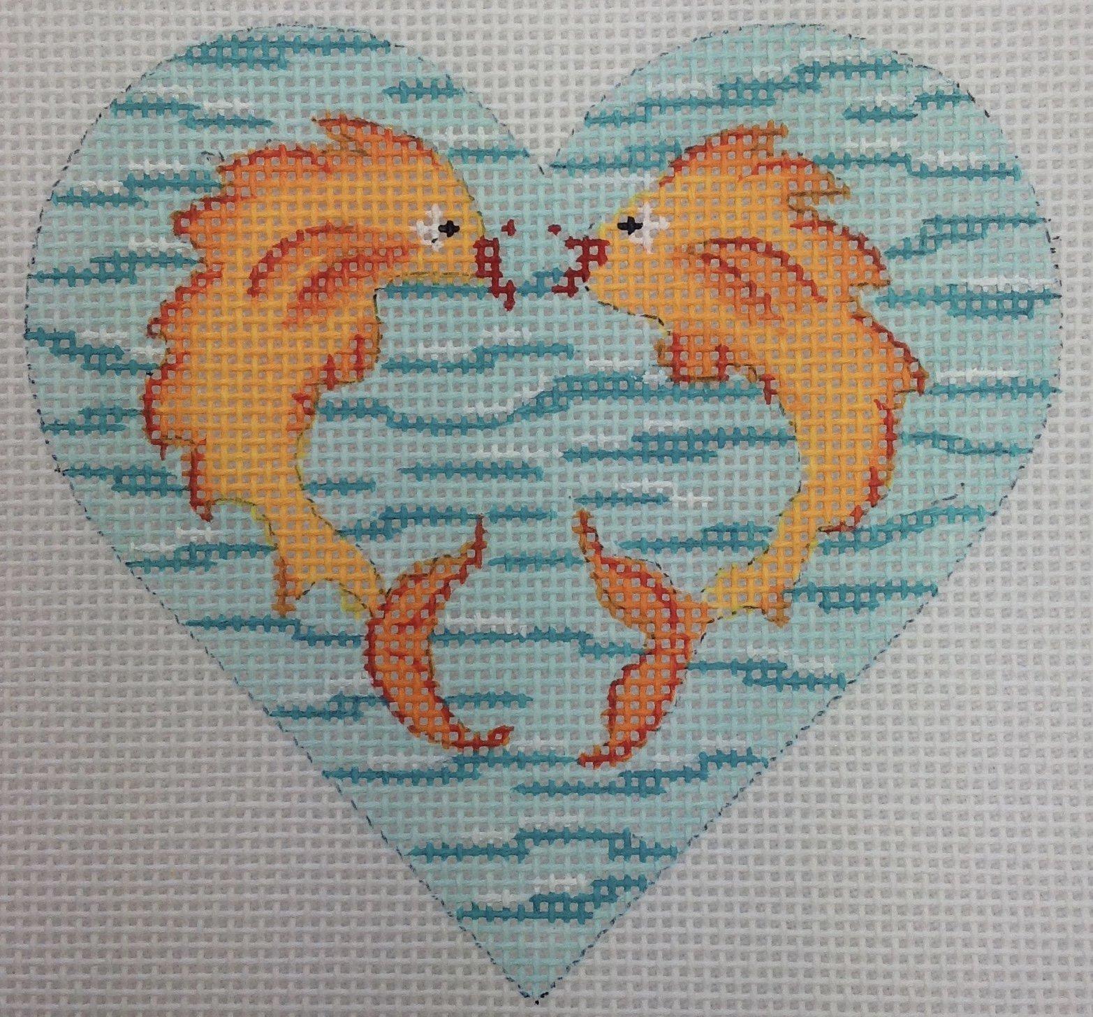 fish kiss heart