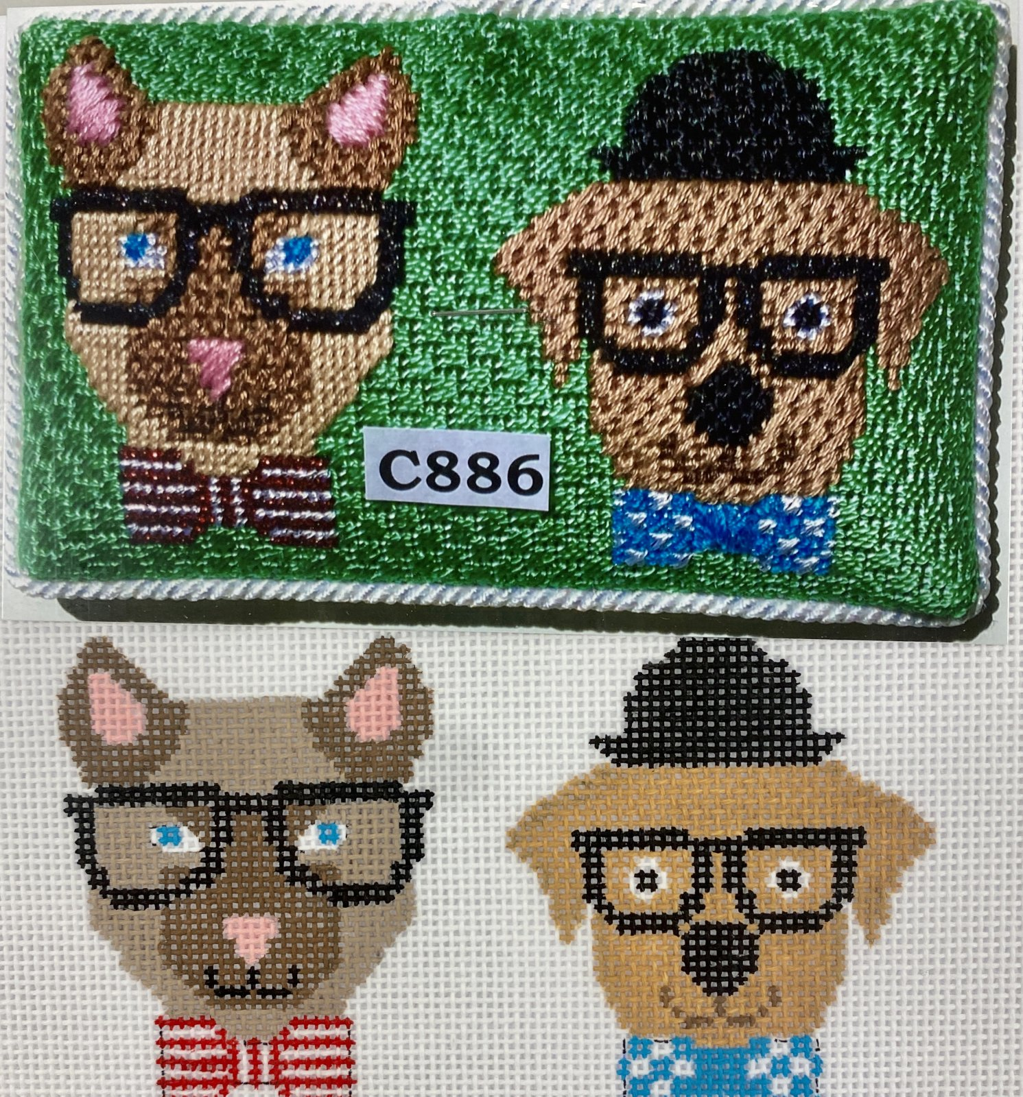 animals in glasses C886