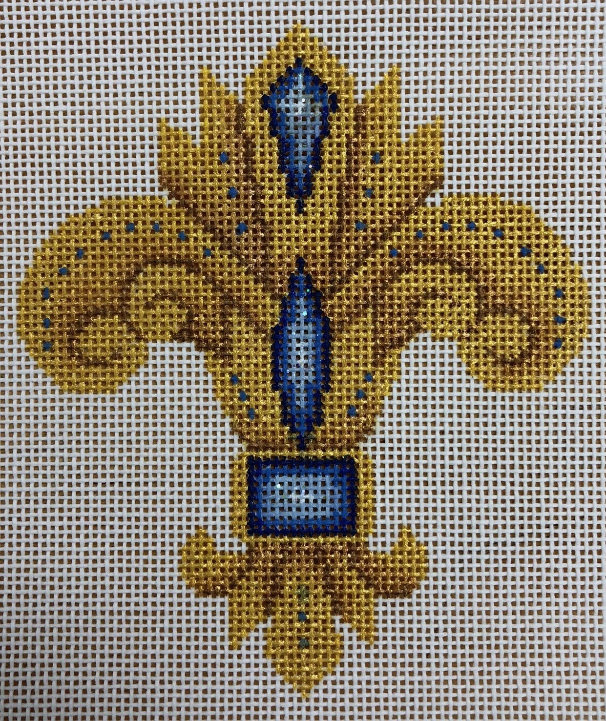 fleur de lis, gold & blue