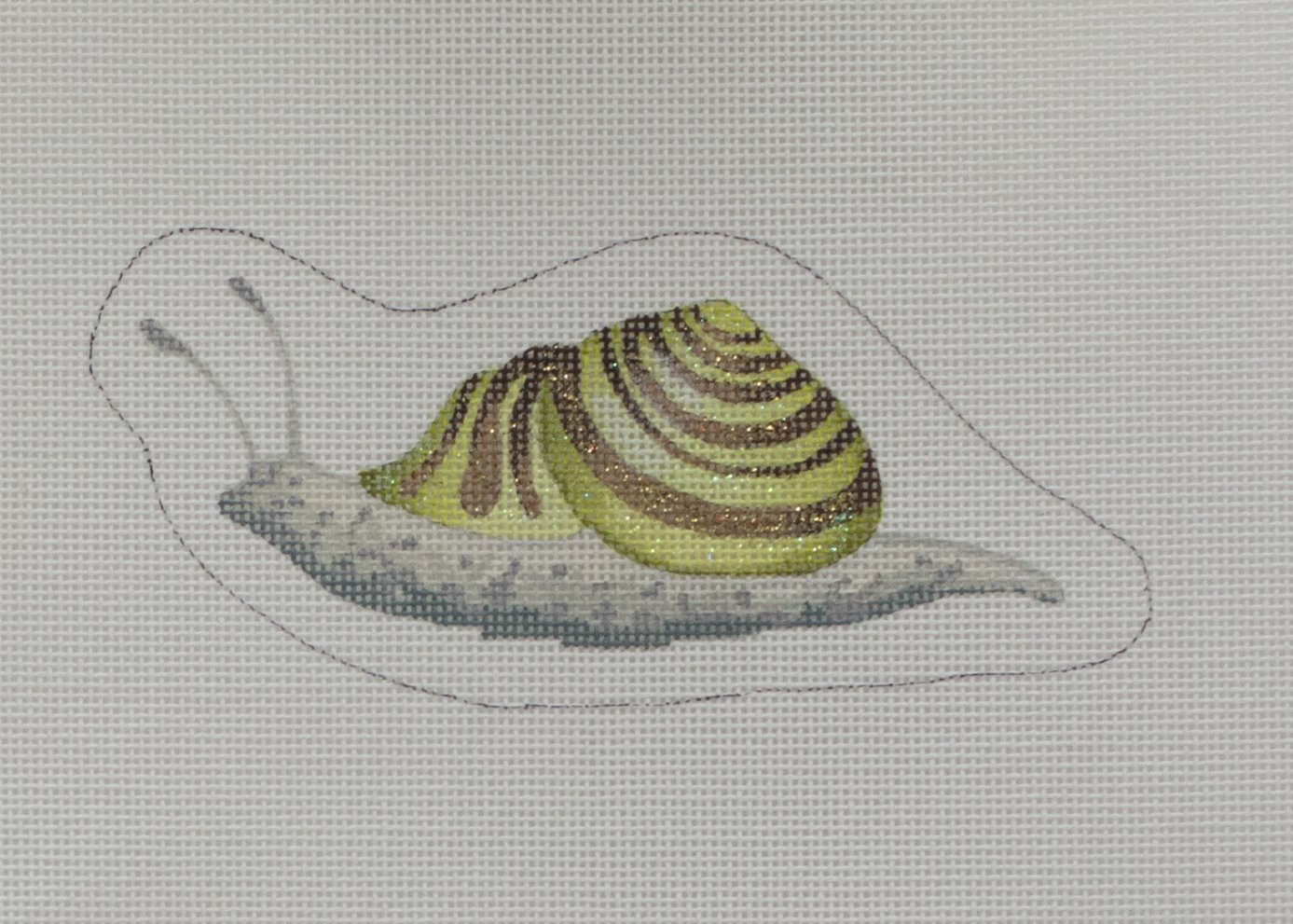 green snazzy snail