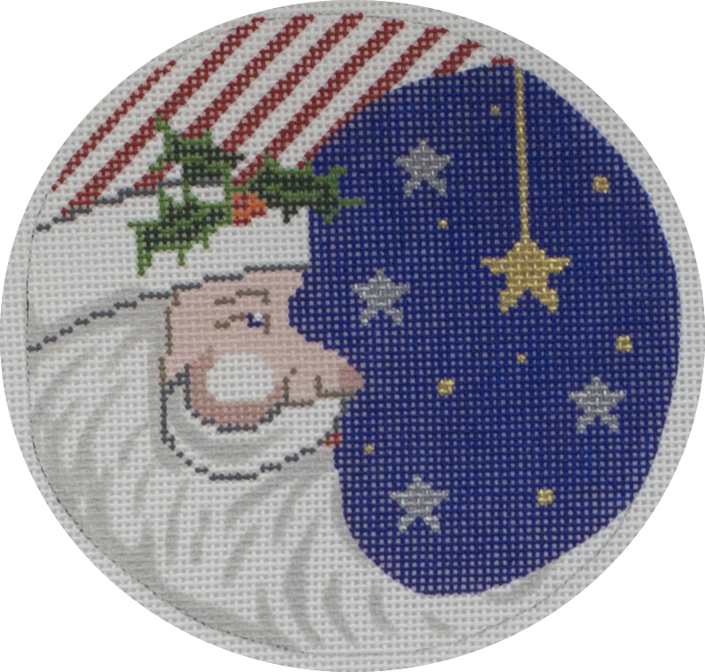 patriotic santa ornament