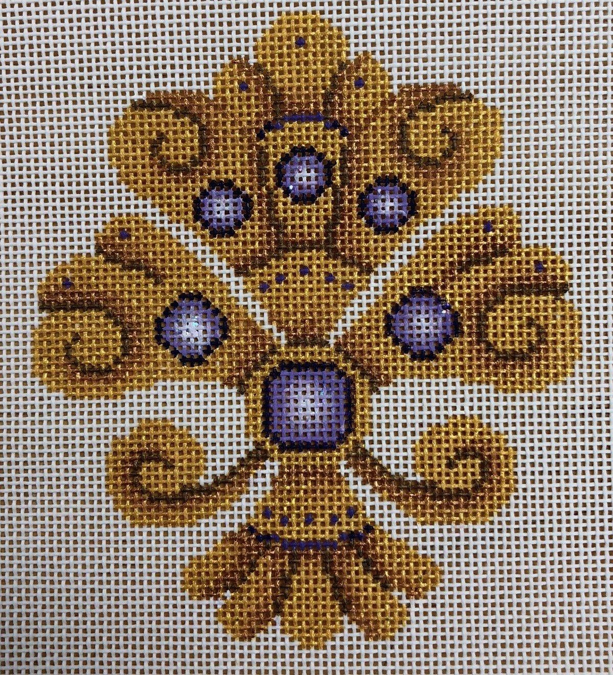 fleur de lis, gold & purple