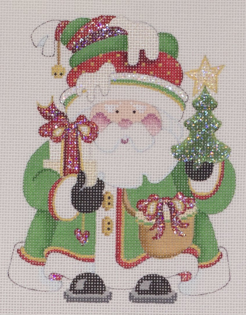 santa ornament w gift
