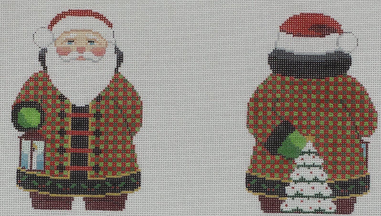 checker coat santa