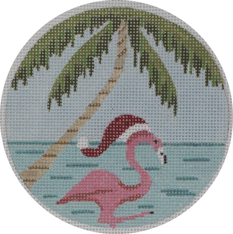 santa hat flamingo