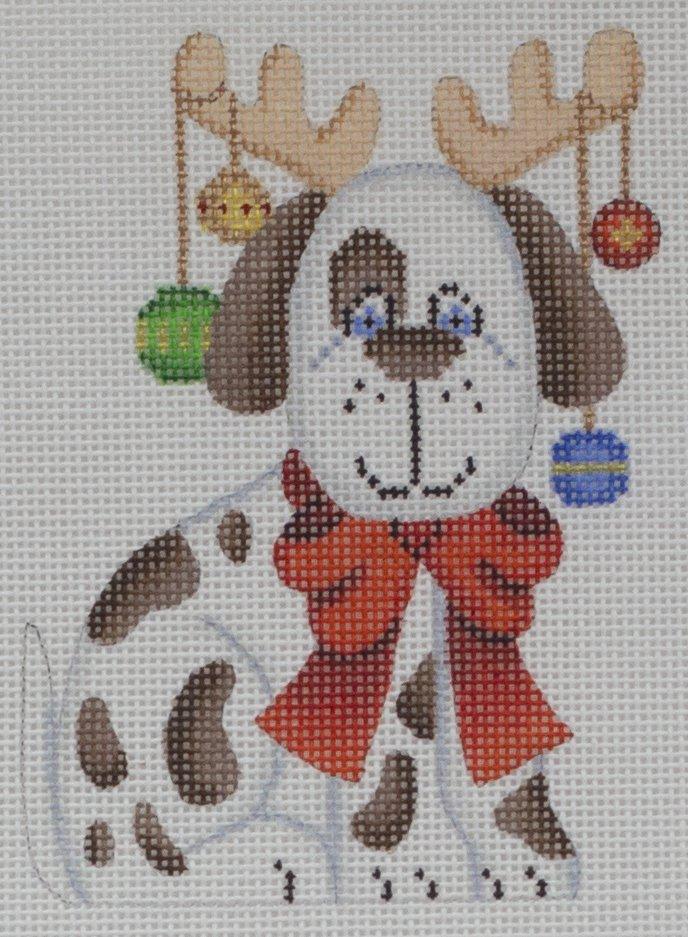 dog w/ lights & antlers*