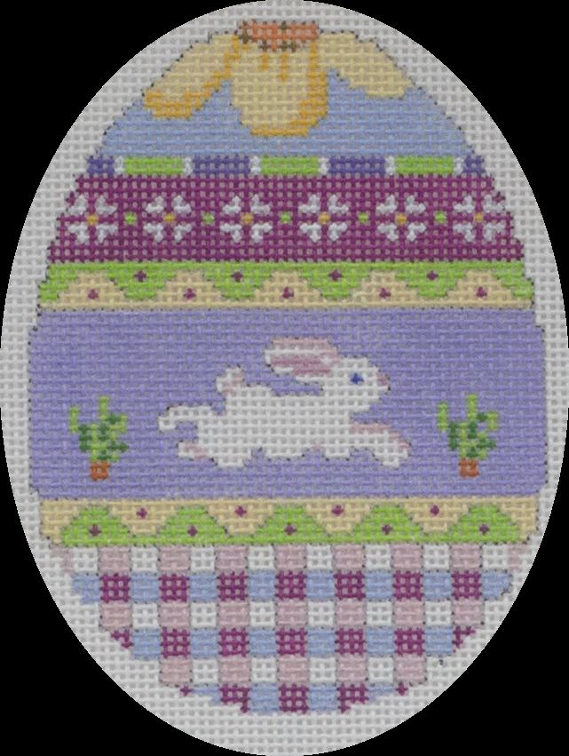 bunny over plaid