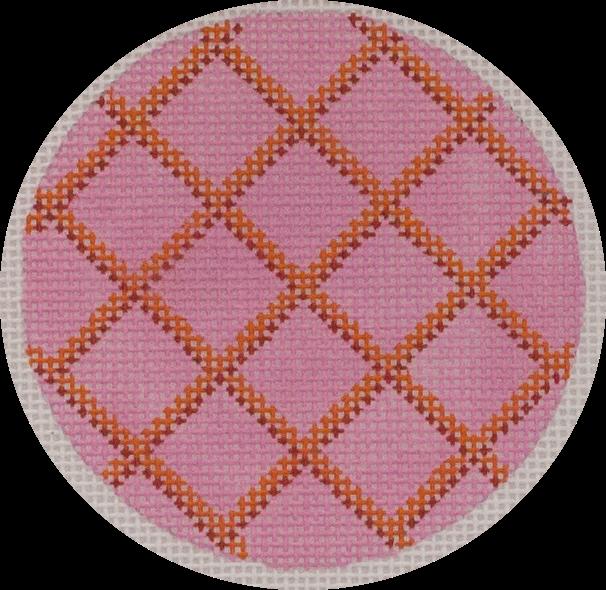pink & orange lattice