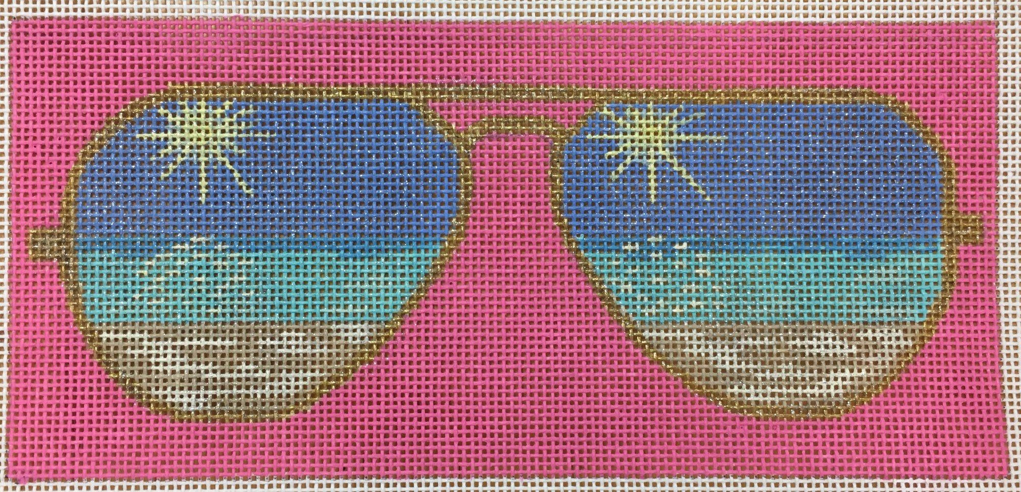 beach eyeglass case