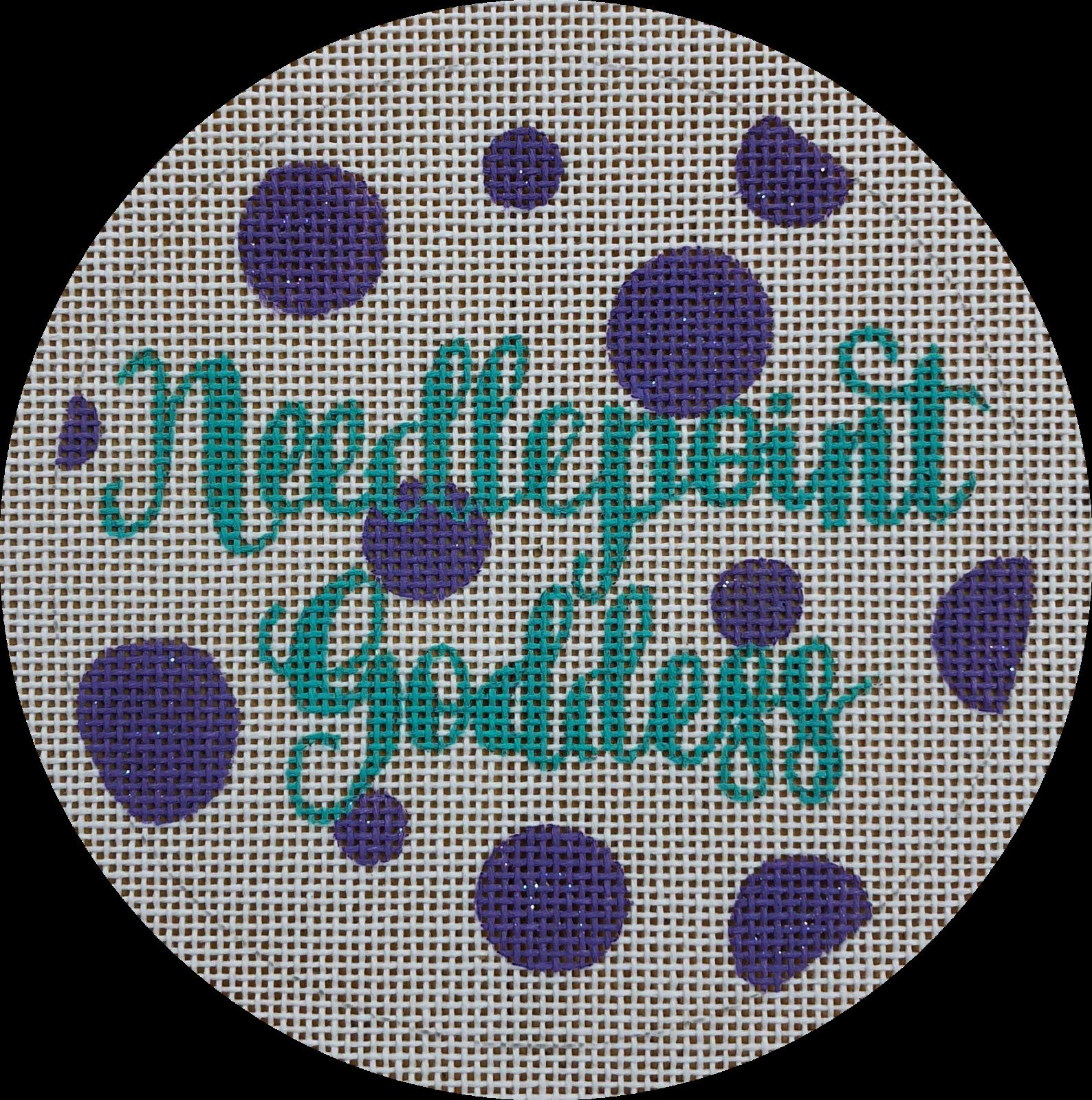 needlepoint goddess round