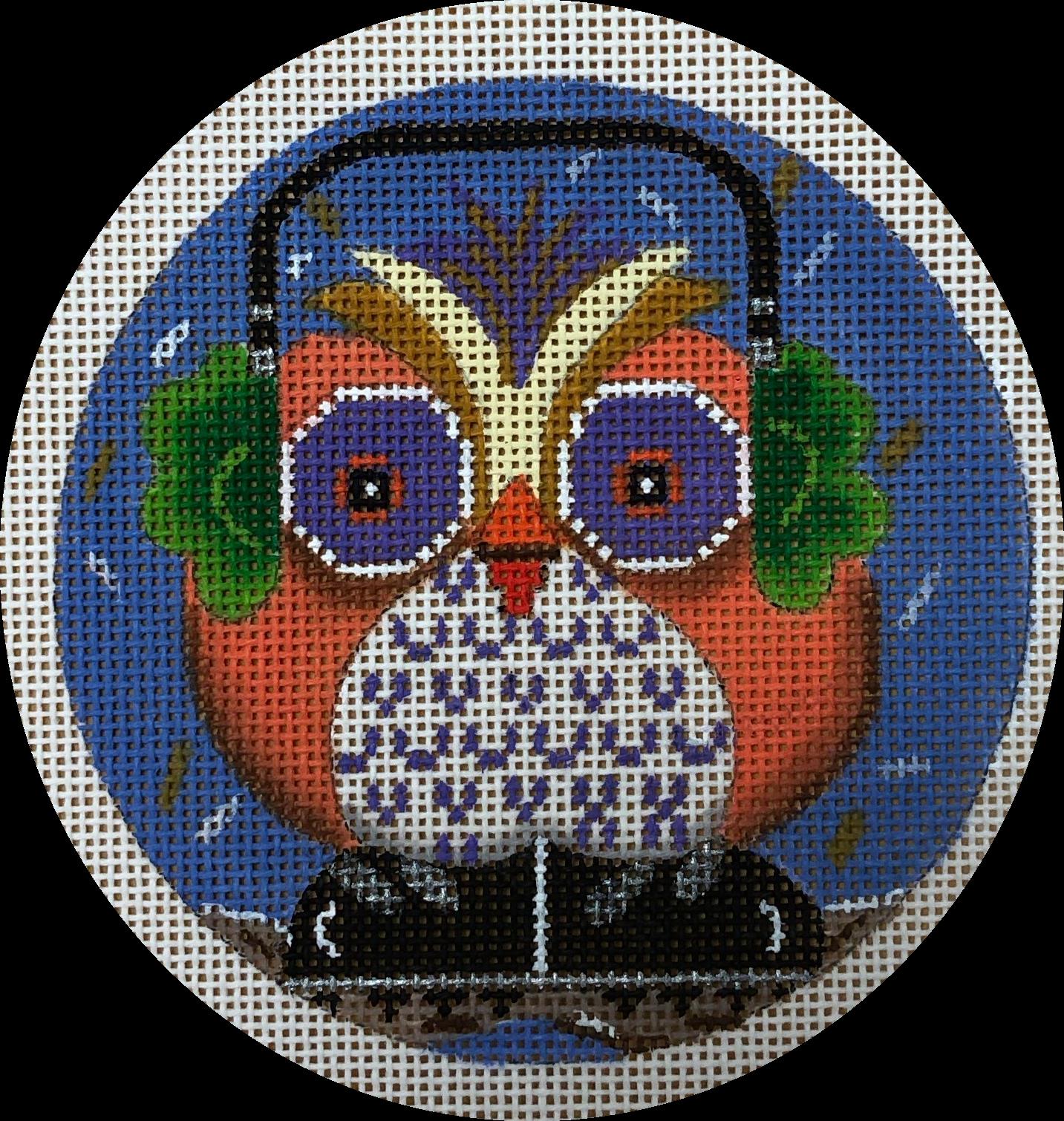 owl in earmuffs