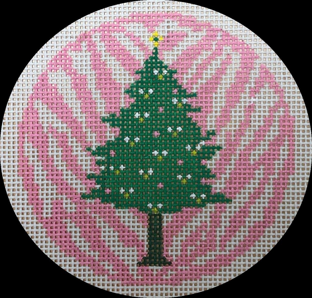 pink & green tree  on zebra