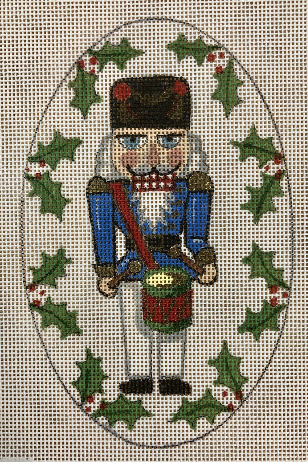 nutcracker ornament, blue & red