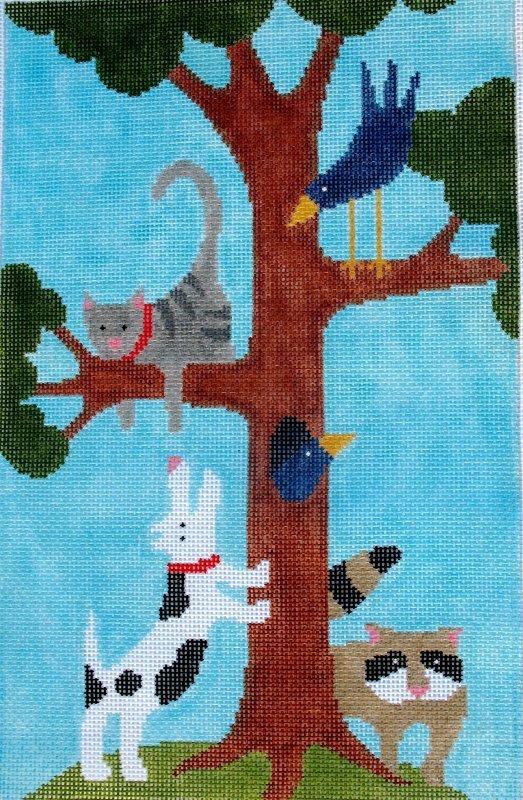 cat up a tree