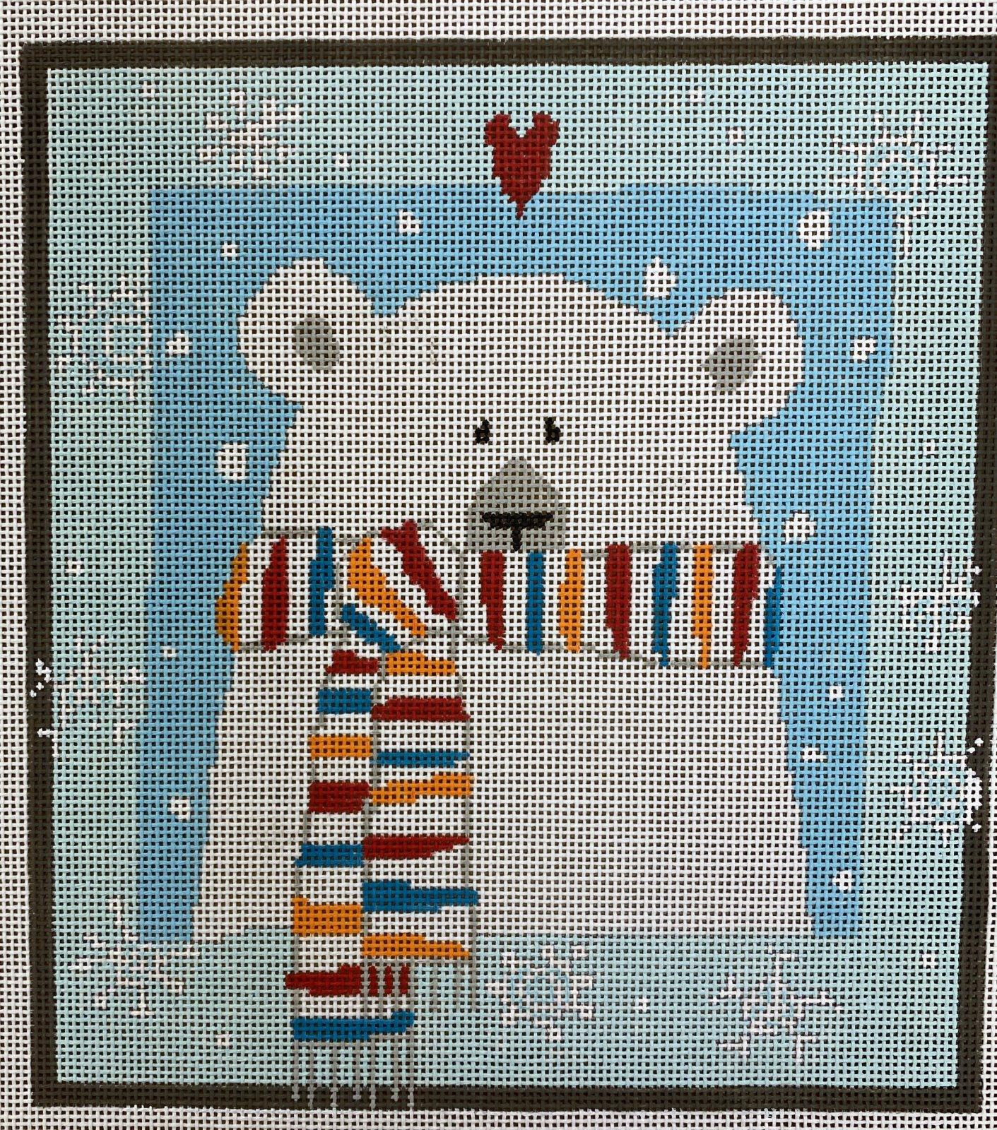 polar bear w scarf