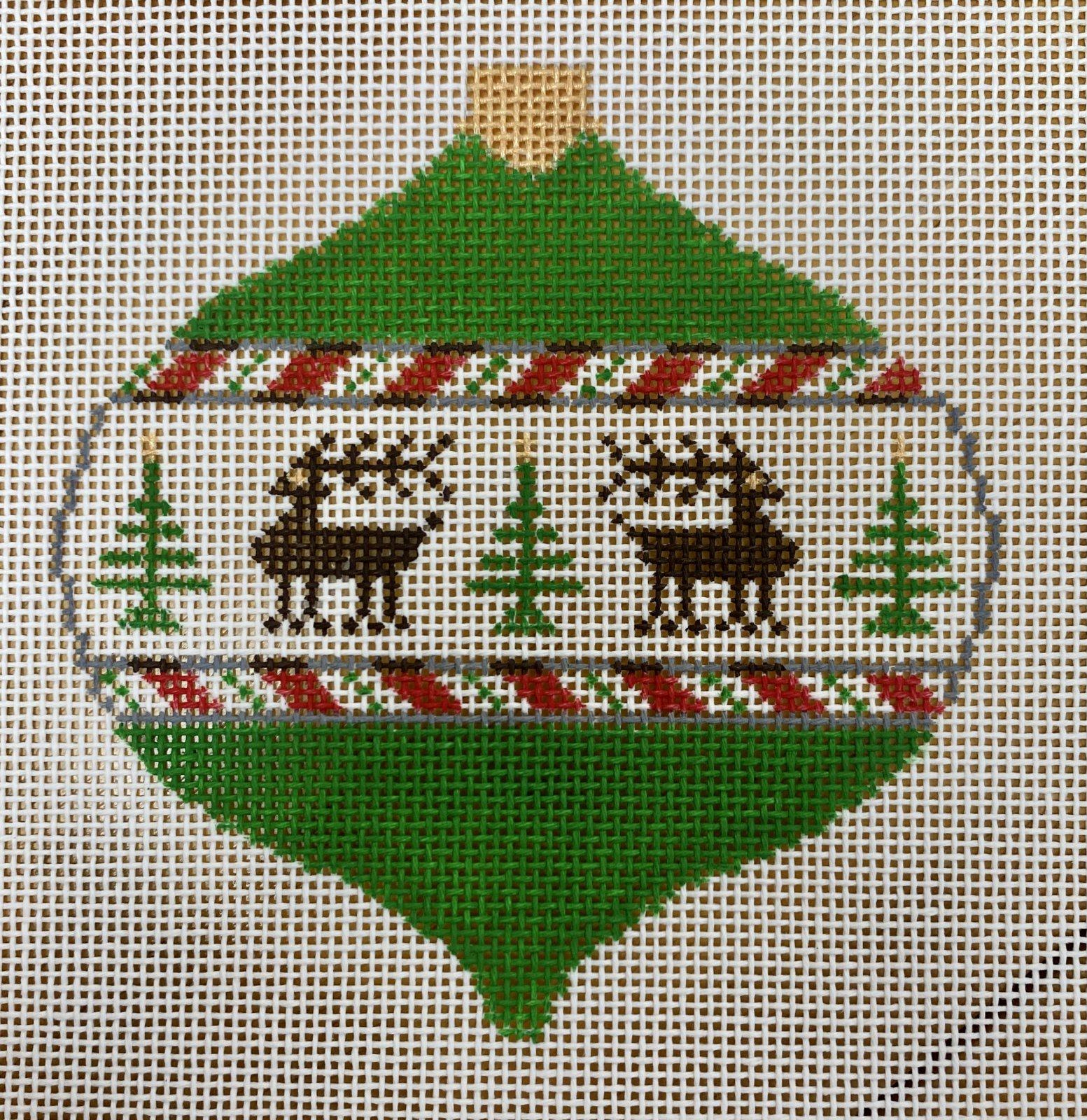 christmas ball w reindeer