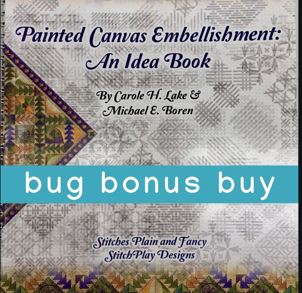 BONUS BUY with $50 or more online purchase: painted canvas embellishment:  an idea book