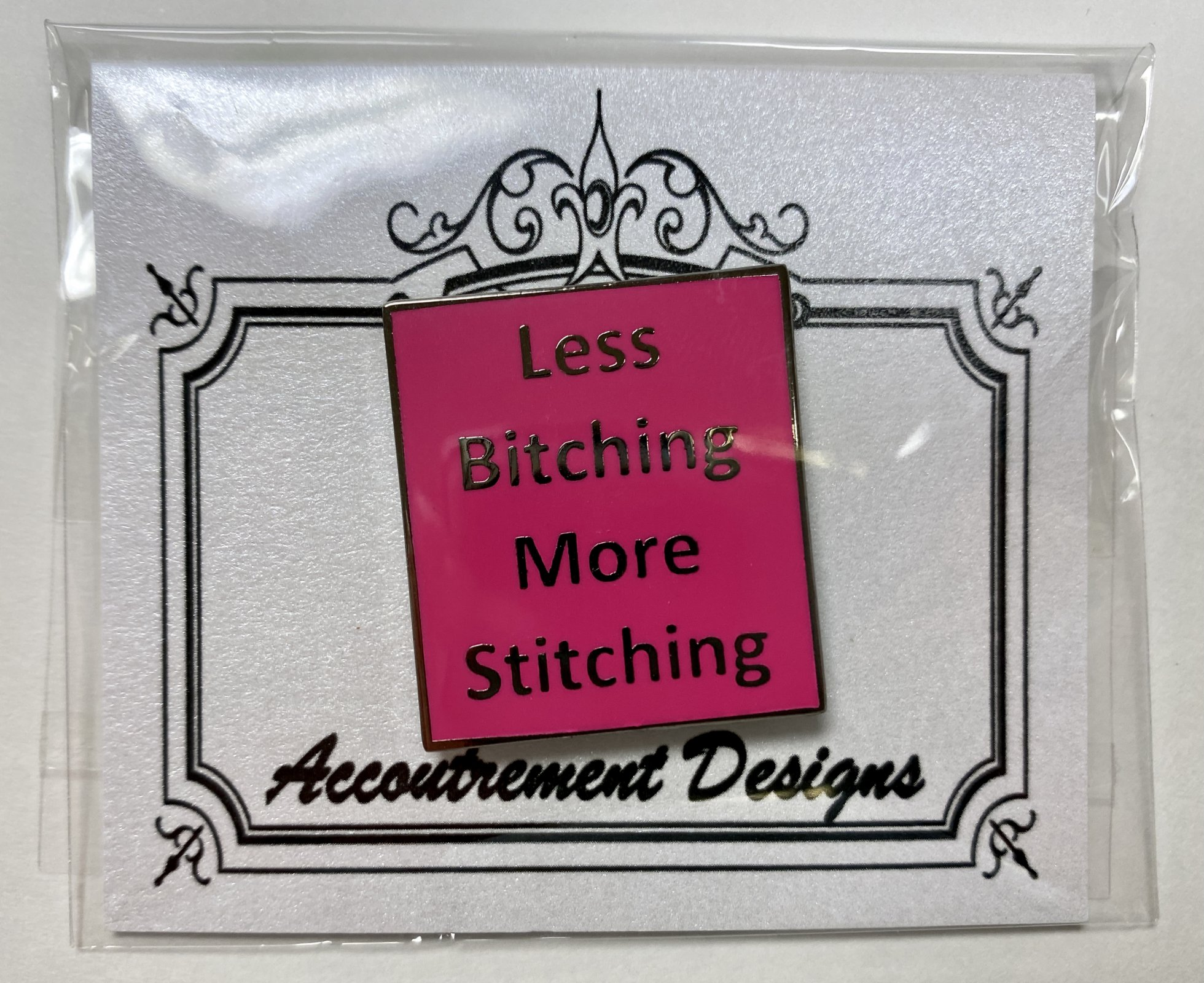 less b*thcing, more stitching (pink) magnet