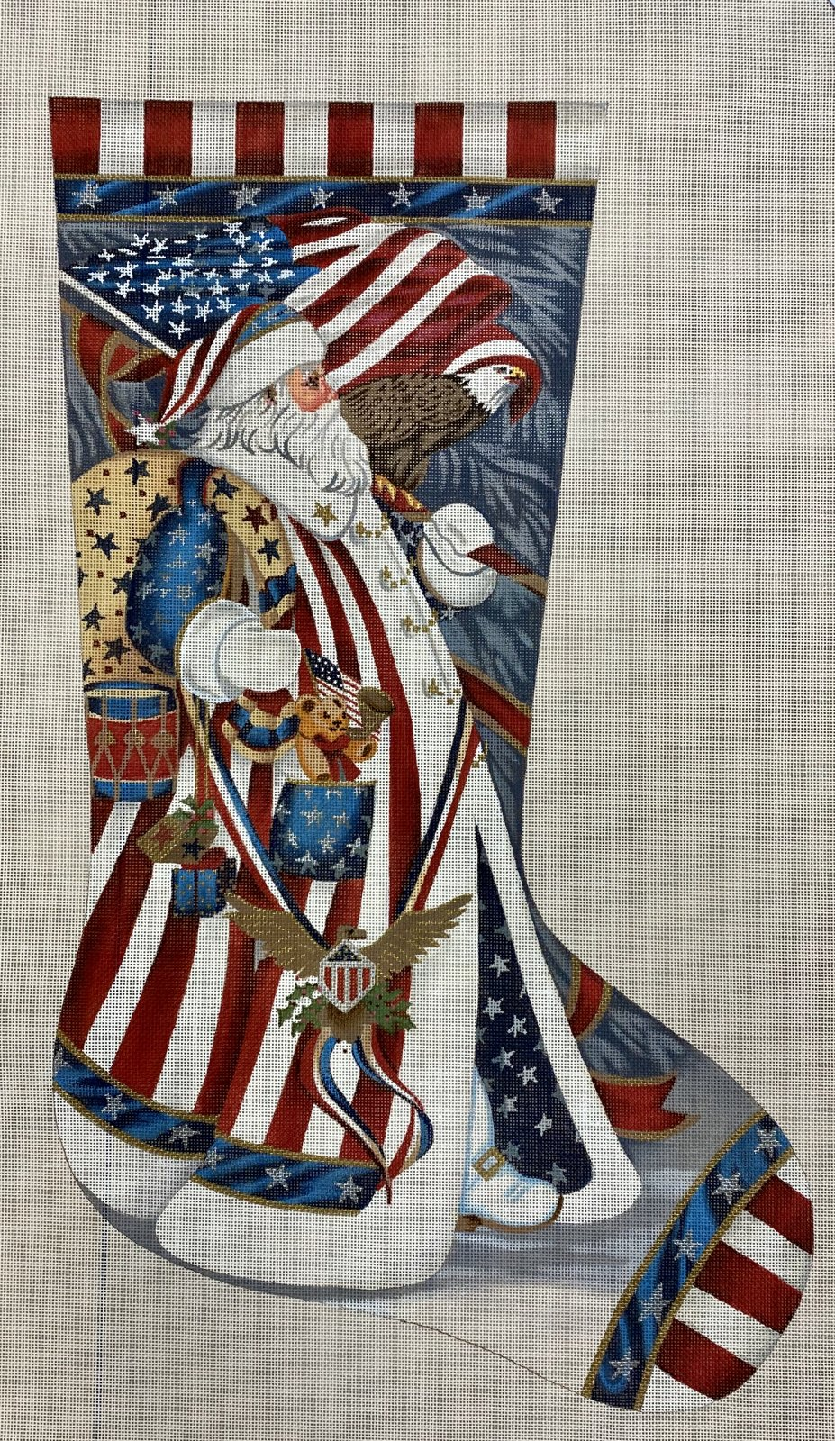 patriotic santa stocking