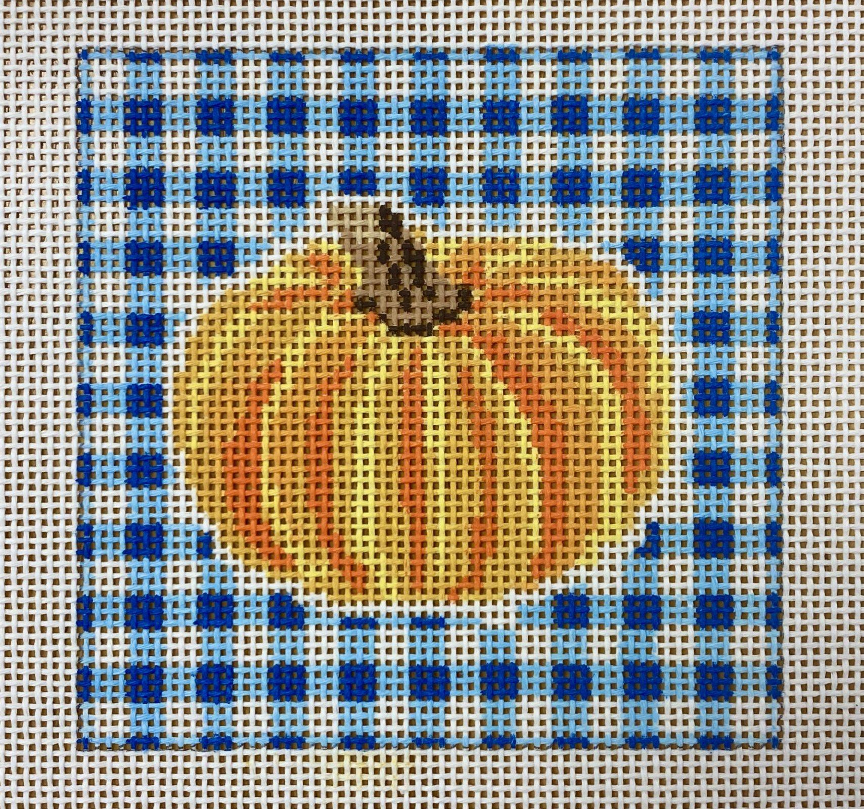 pumpkin on gingham