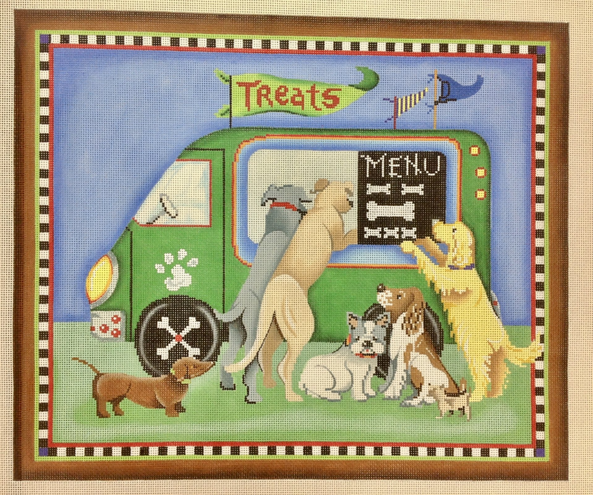 dog and food truck