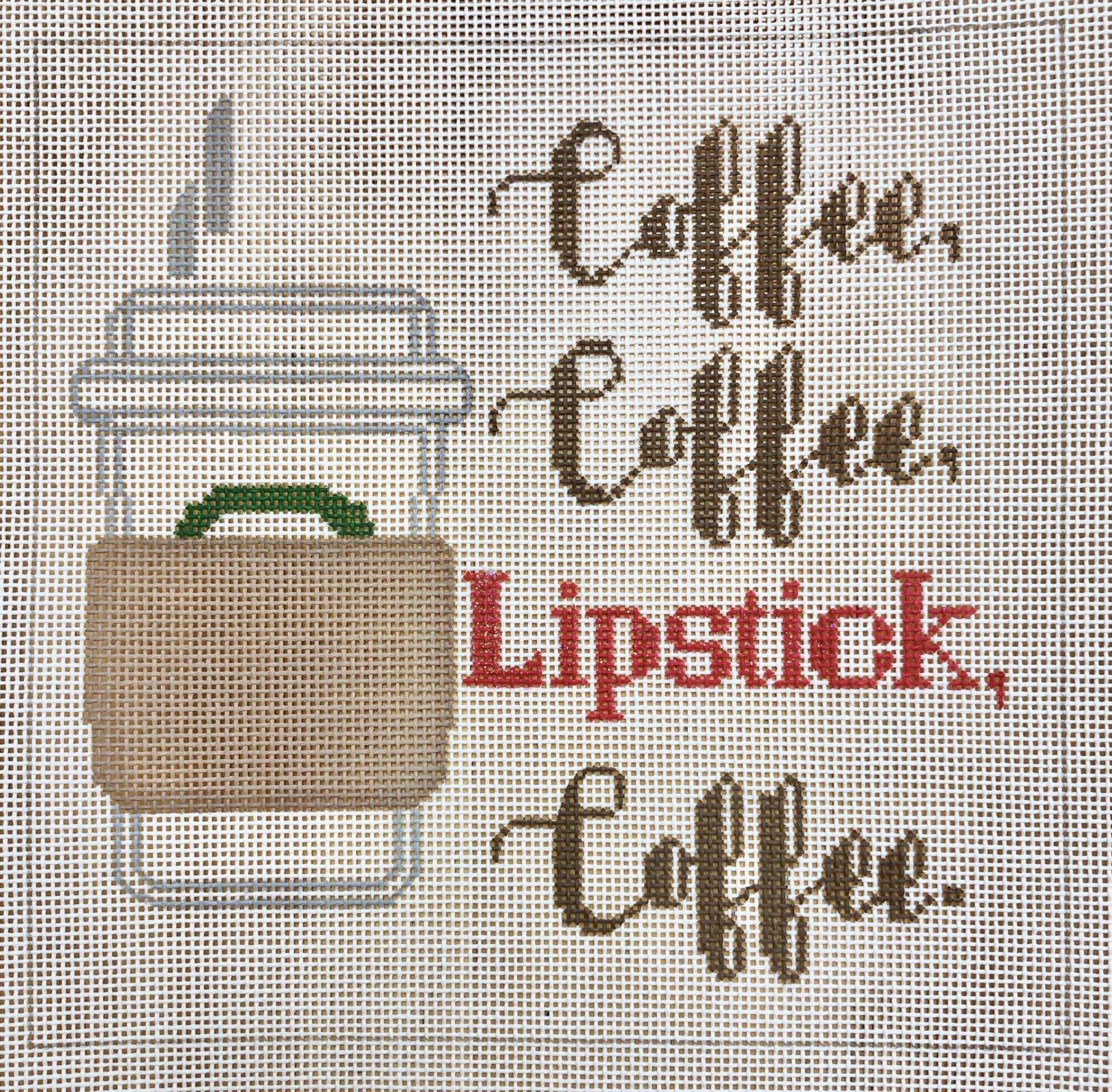 coffee, coffee, lipstick, coffee