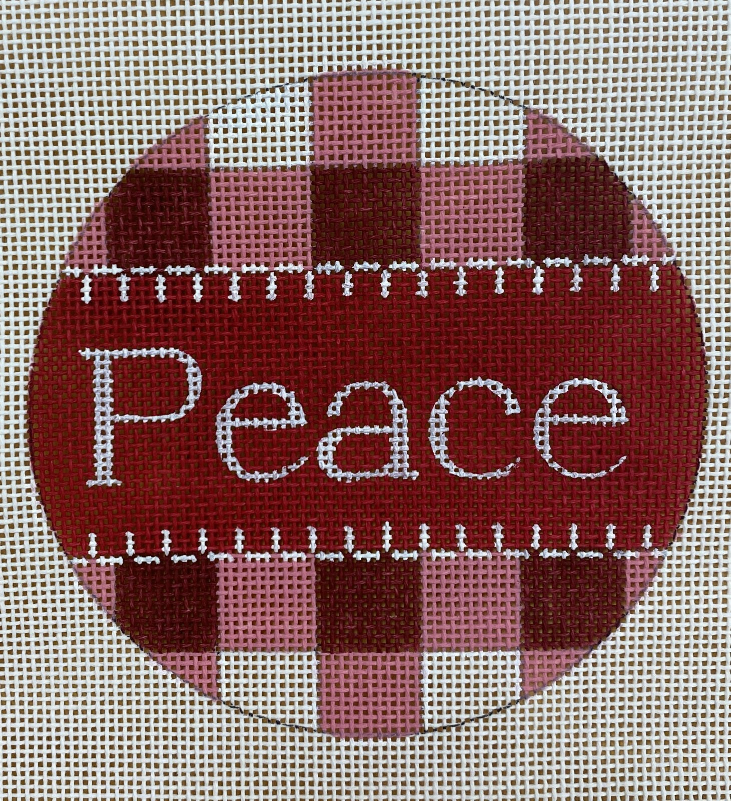 red gingham, peace