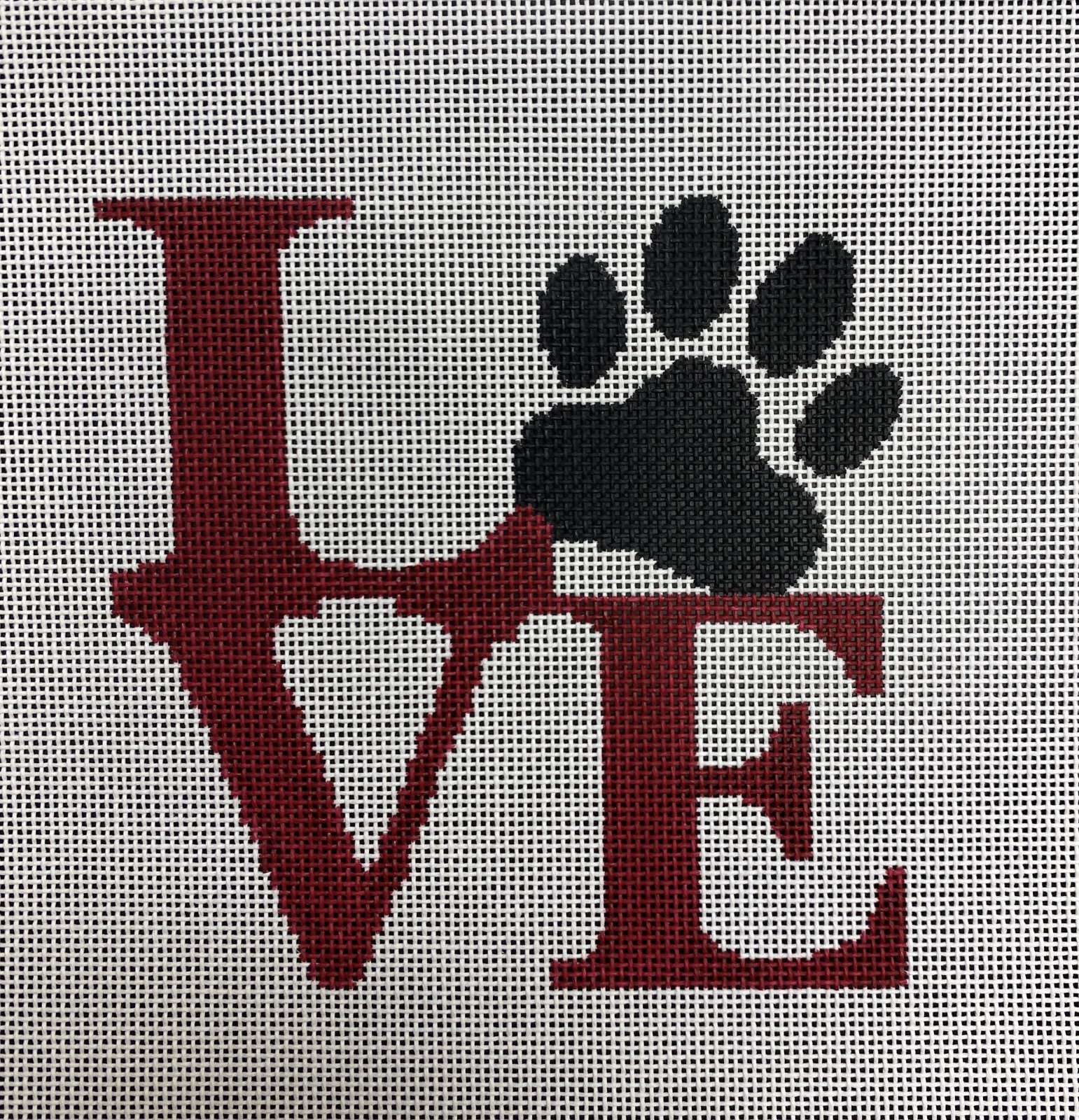 love paw, red
