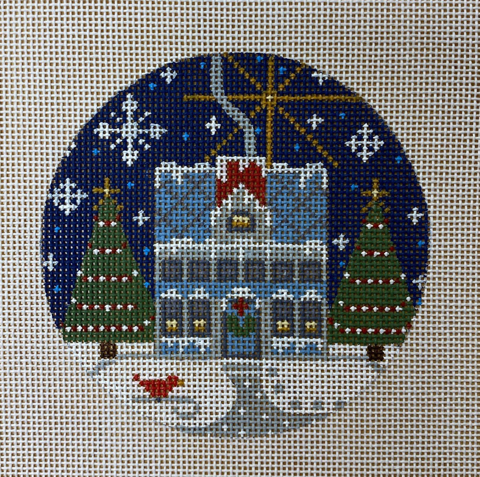 blue house ornament