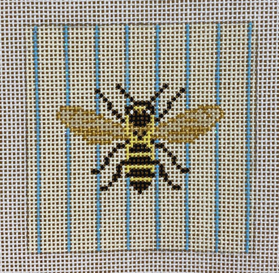 bee flat & stripes square