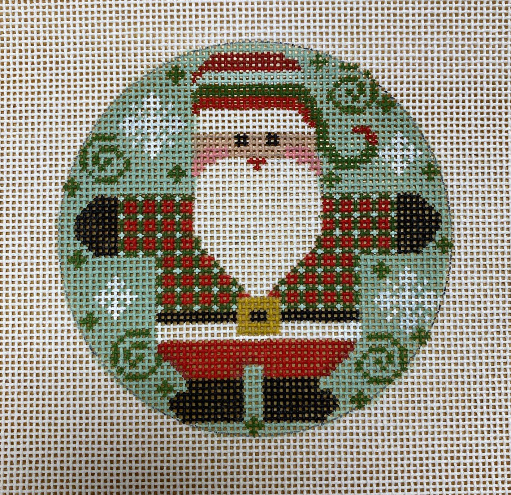 small checkered coat santa