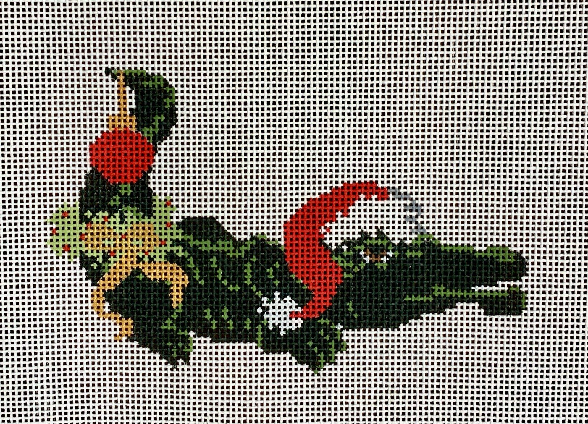 christmas alligator