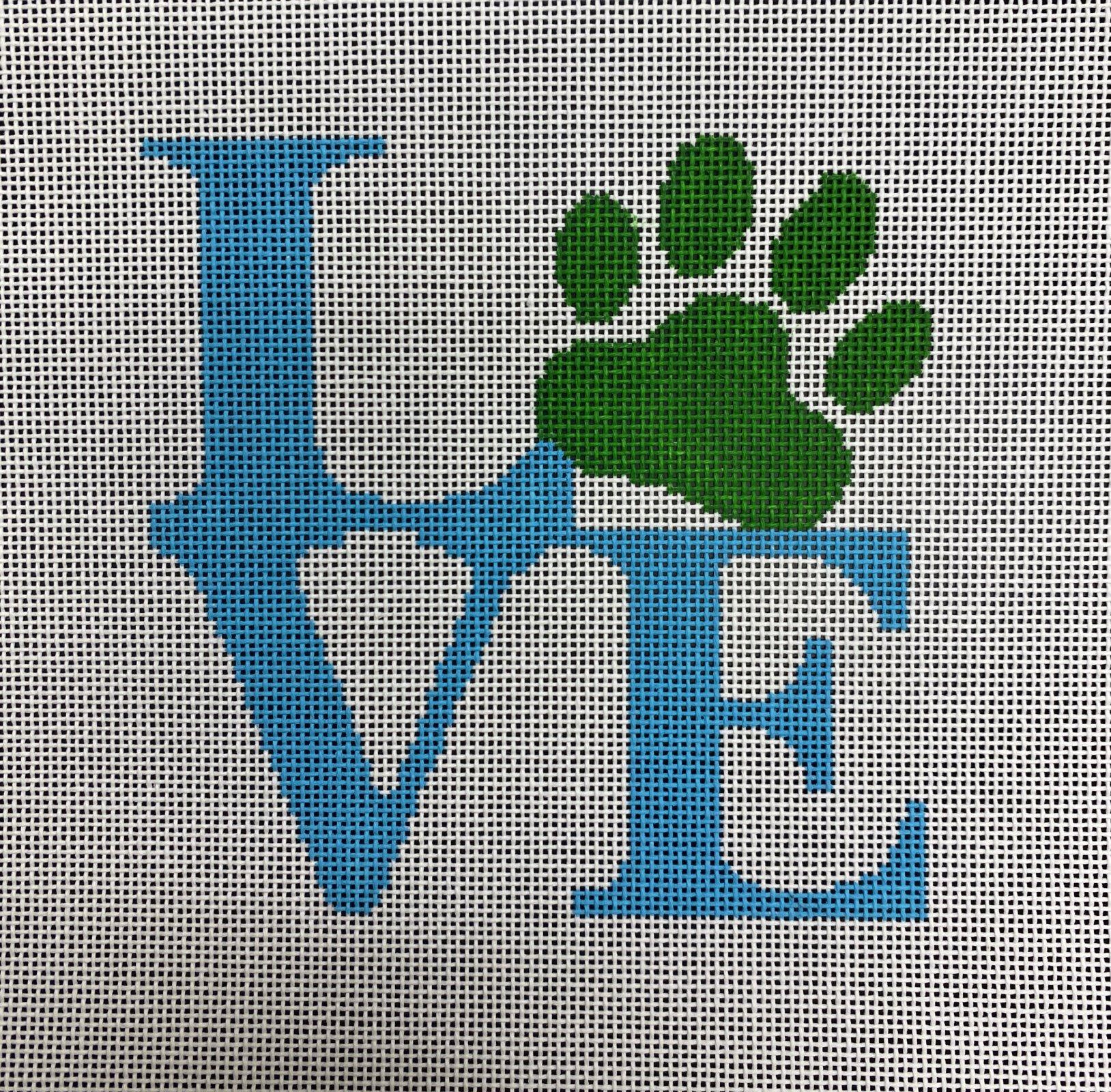 love paw, blue