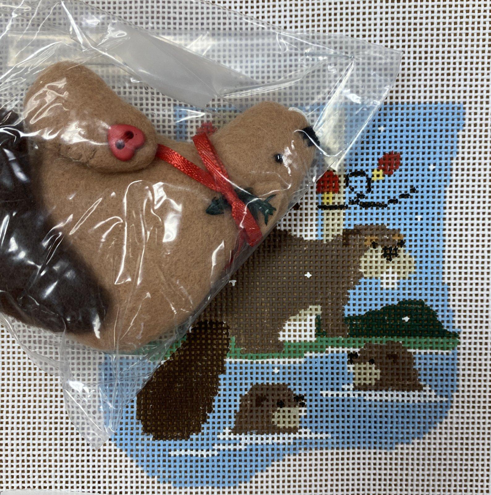 beavers swimming
