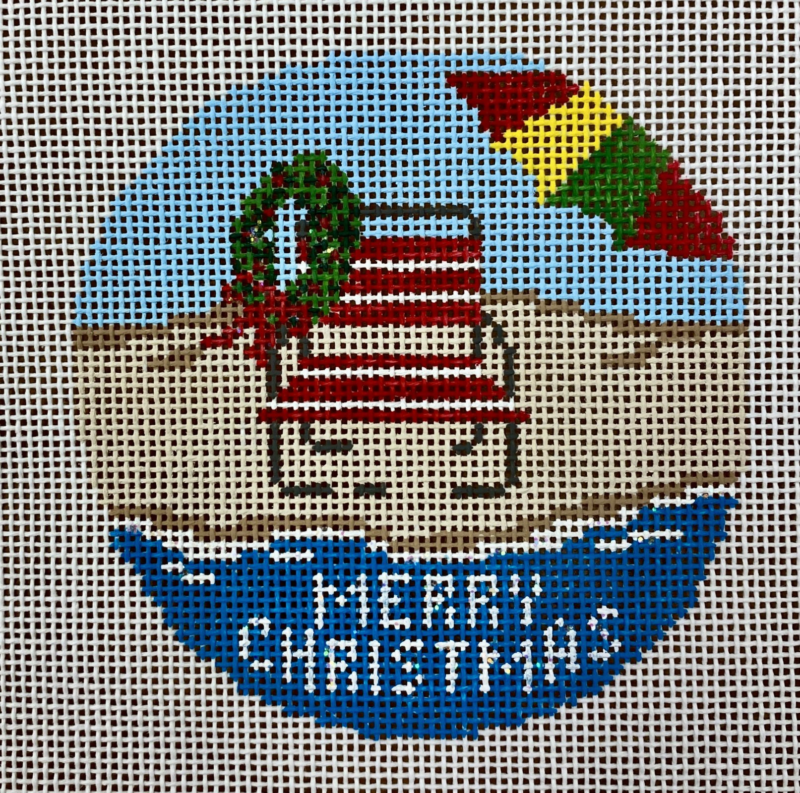 christmas beach chair