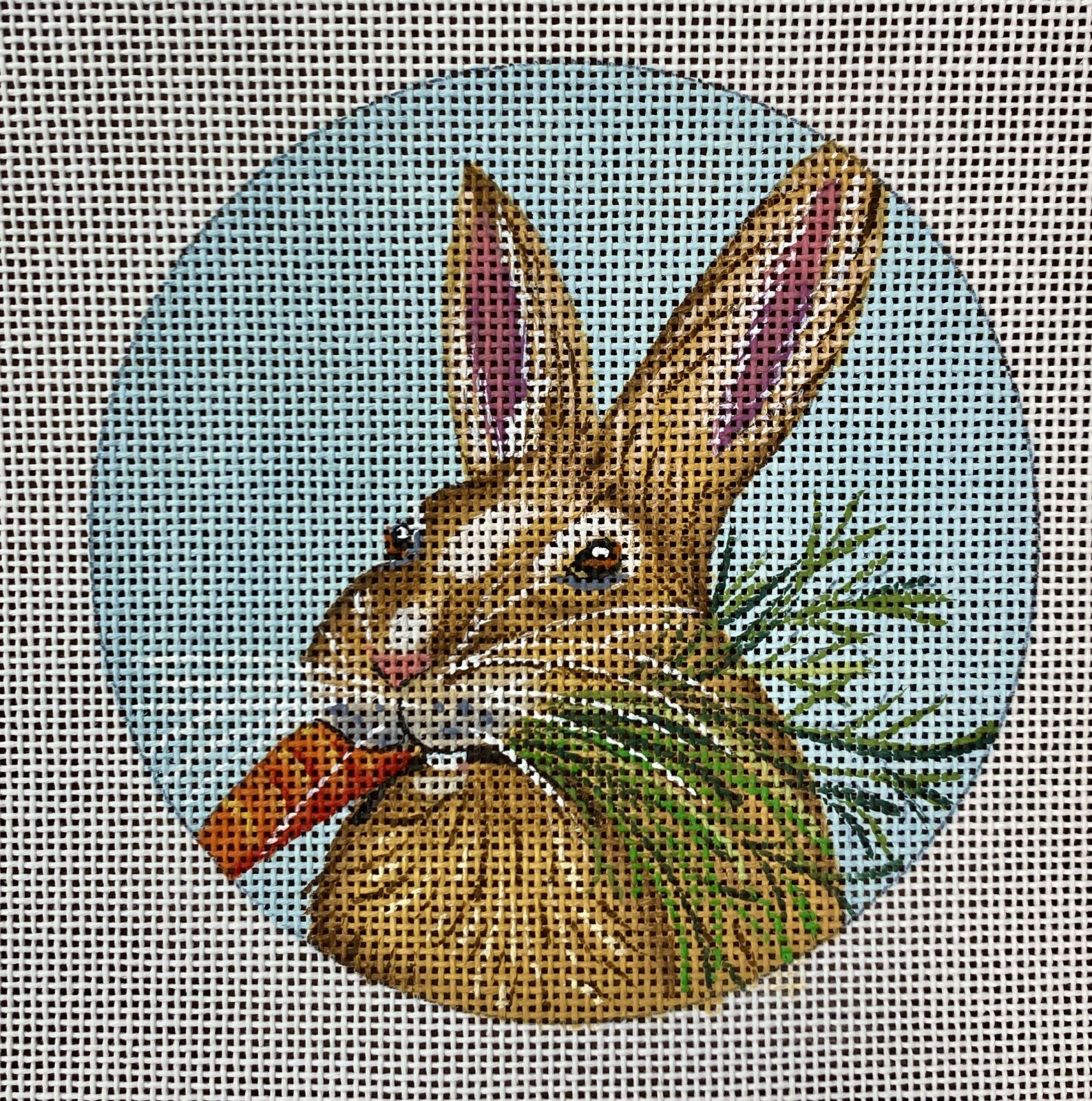 carrot bunny ornament