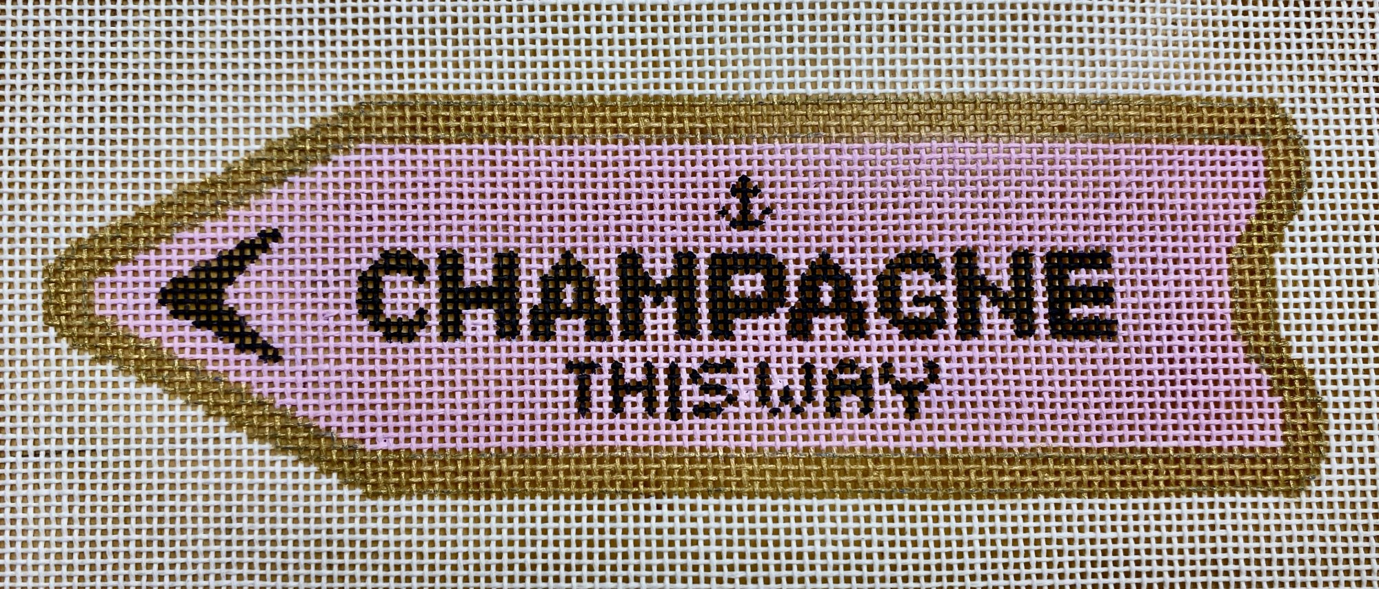 champagne this way, pink