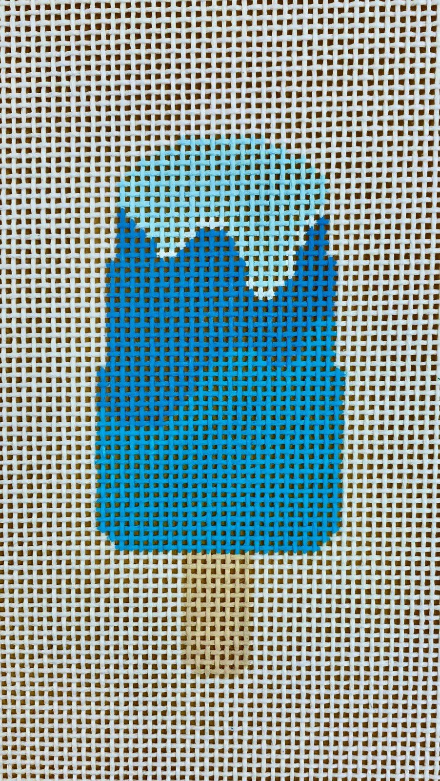 popsicle, blue