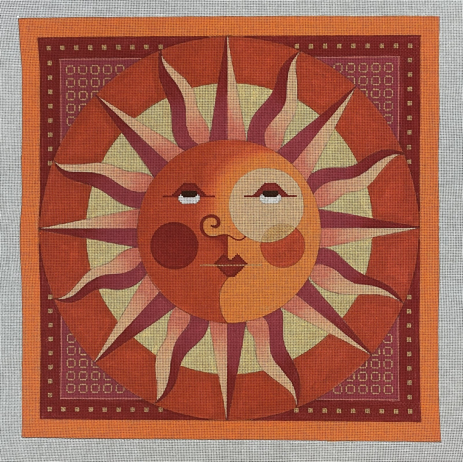 monocle sun pillow