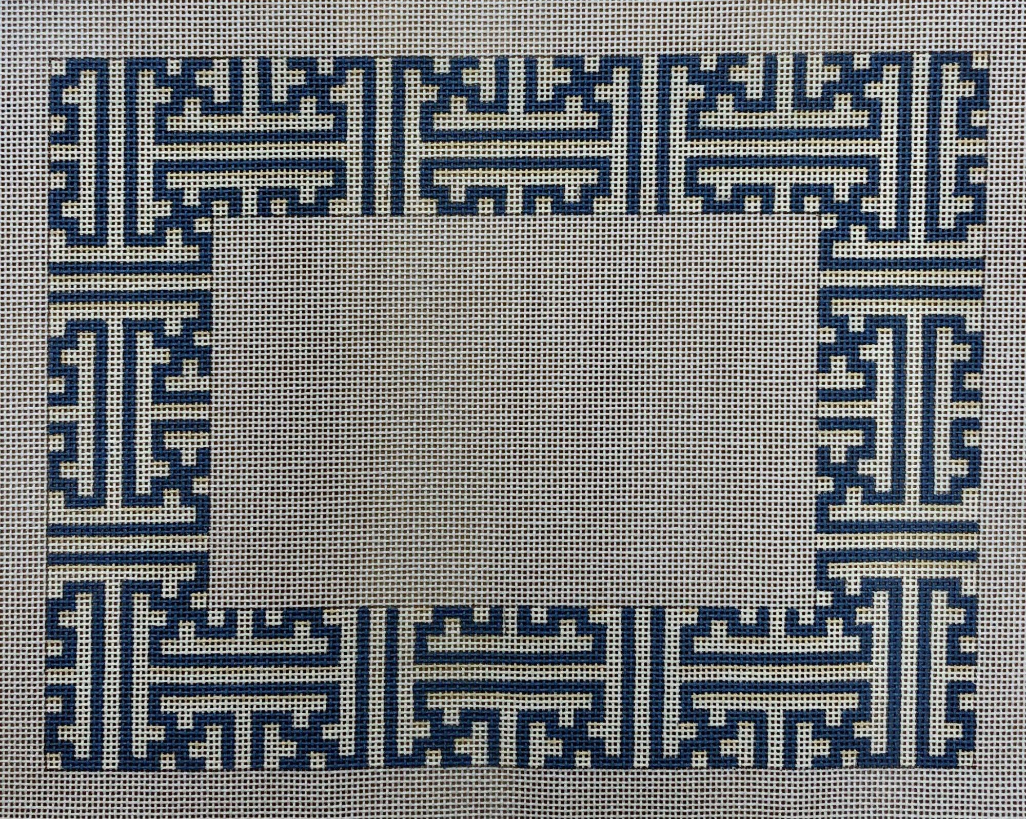 fretwork frame blue