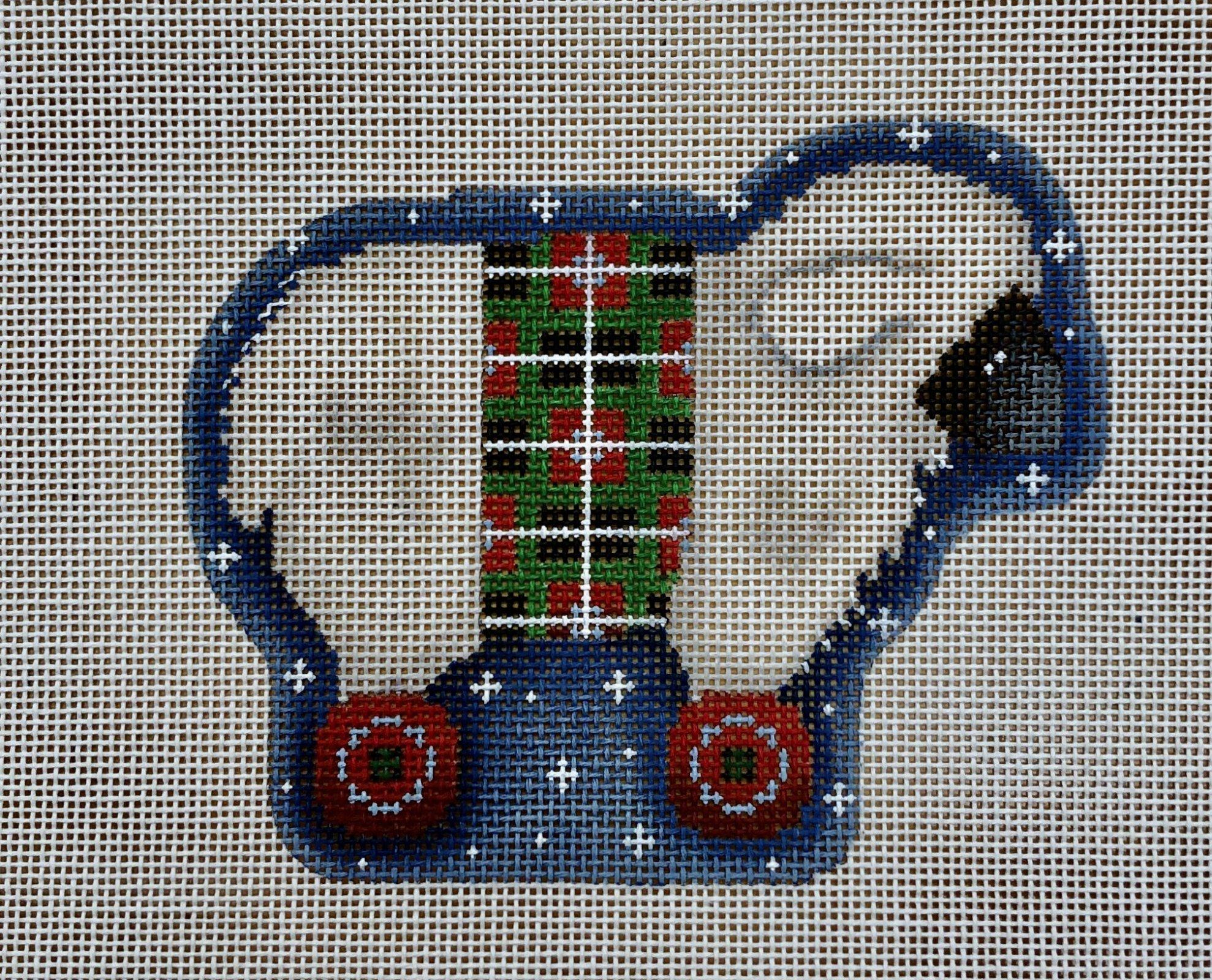 white sheep wheels ornament