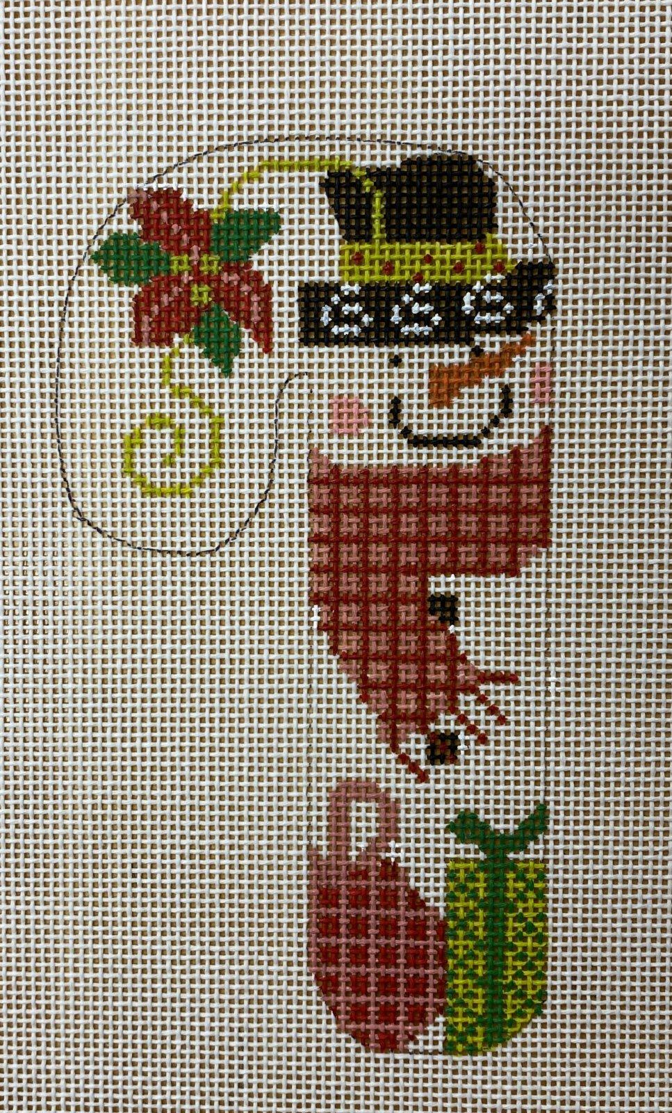 snowman poinsettia candy cane